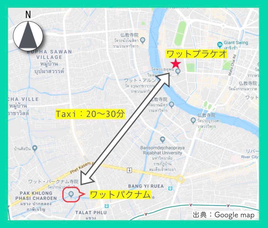 地図(ワットプラケオ)13