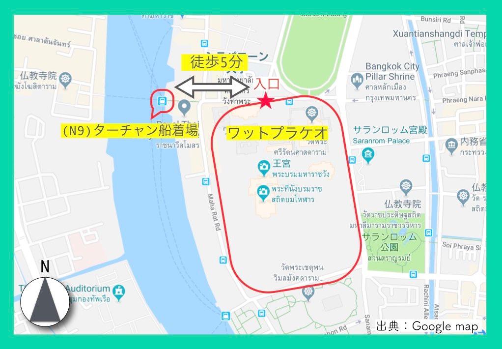 地図(ワットプラケオ)2