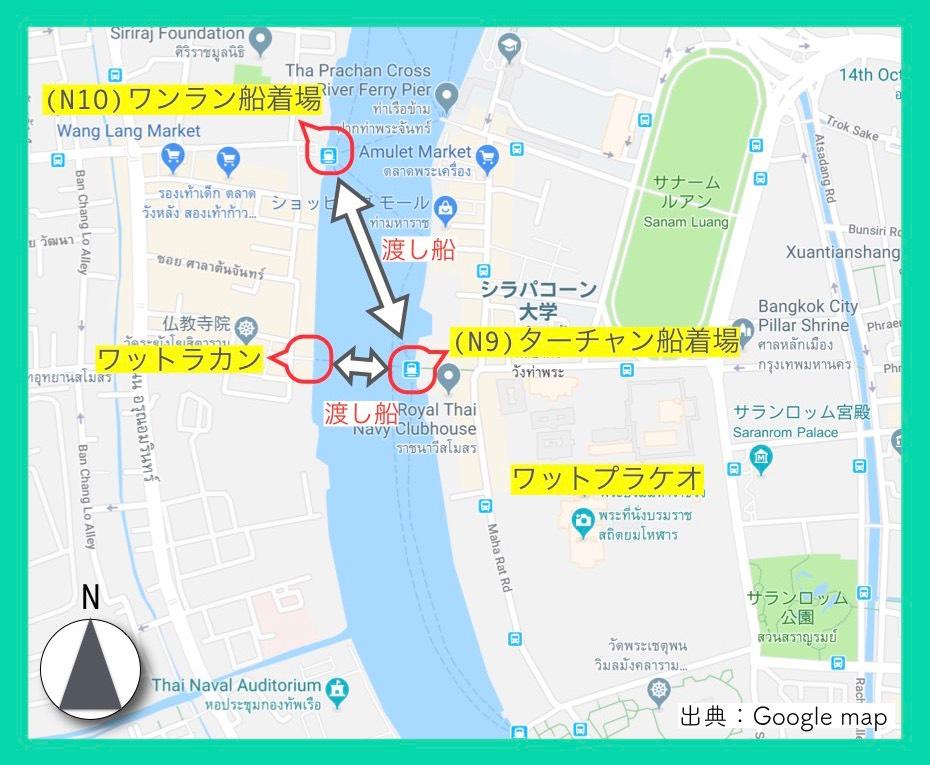 地図(ワットプラケオ)3