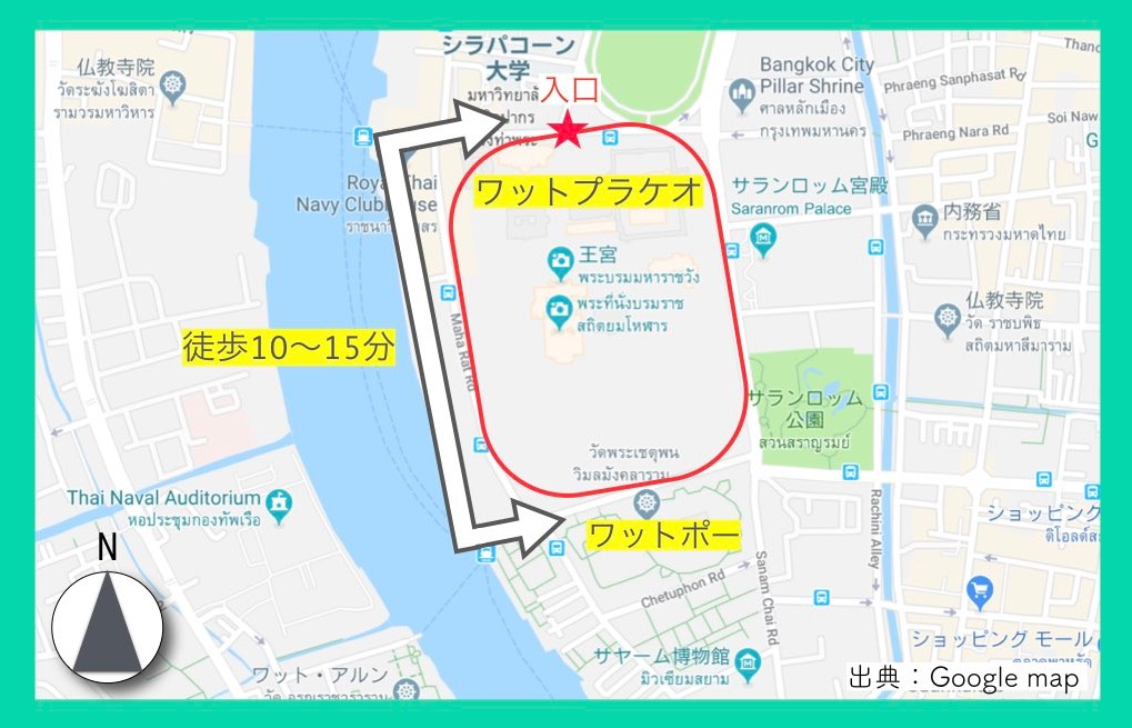 地図(ワットプラケオ)5