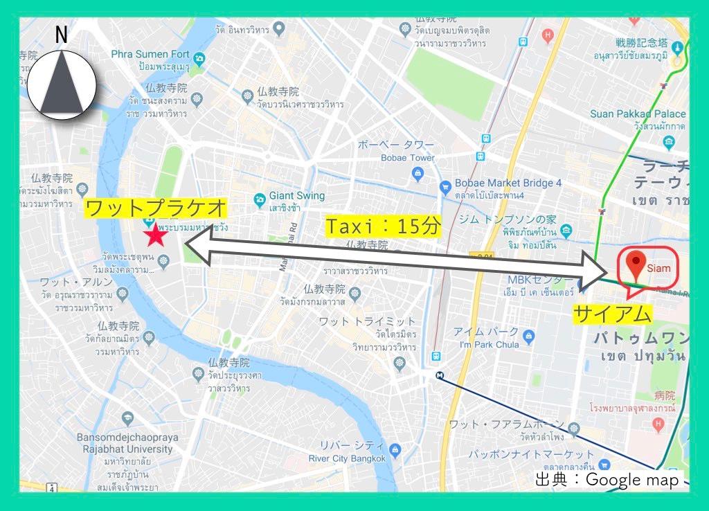地図(ワットプラケオ)9