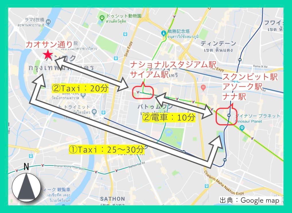 地図(カオサン通り)11