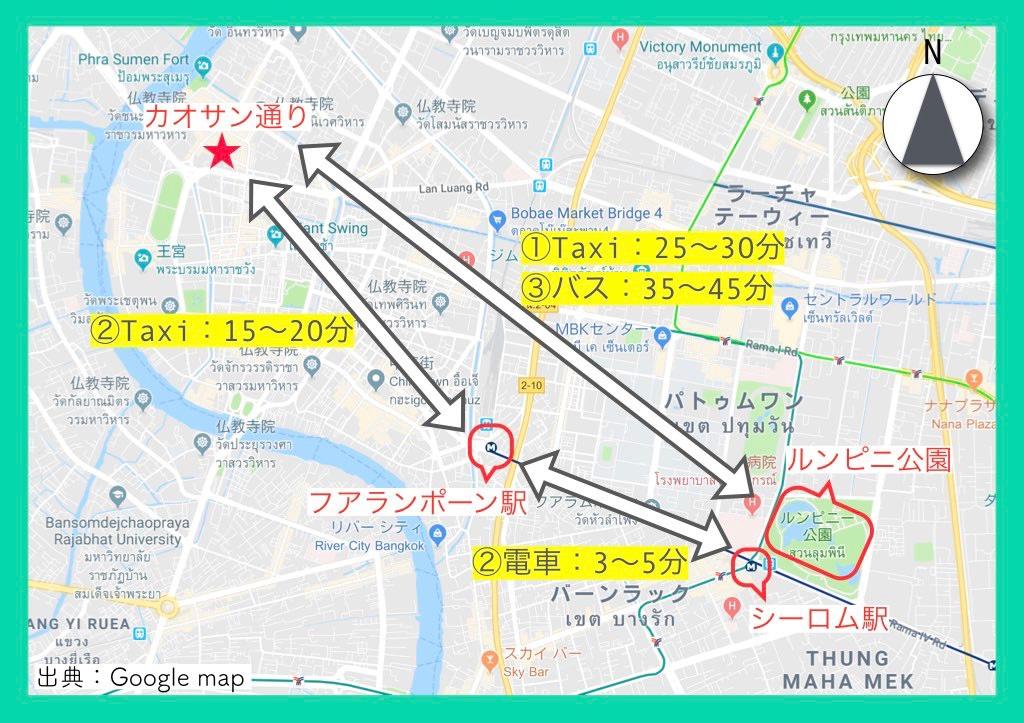 地図(カオサン通り)13