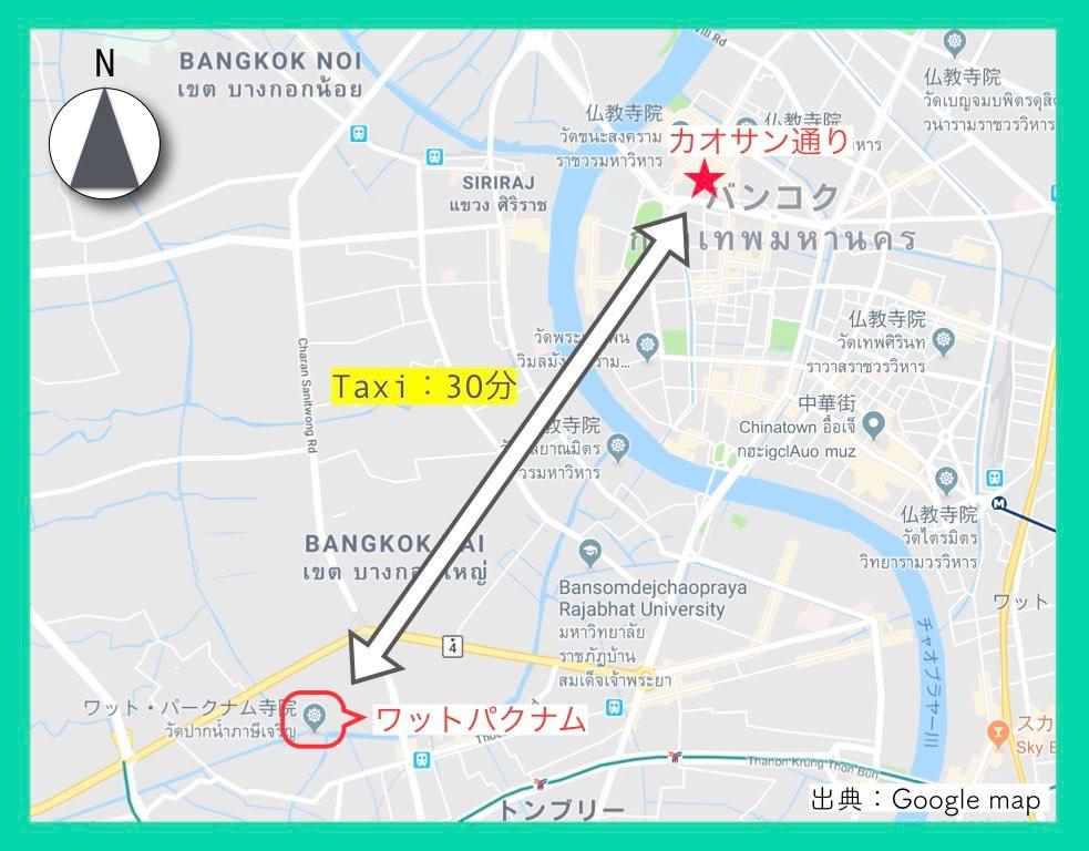 地図(カオサン通り)15