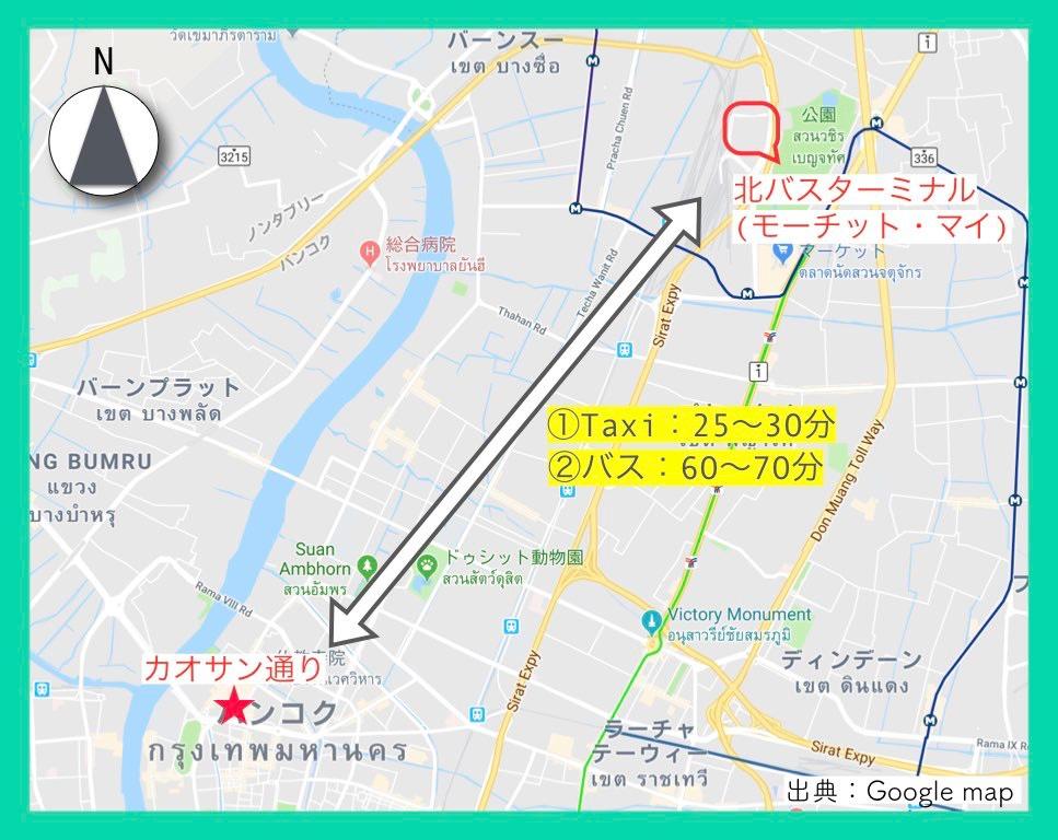 地図(カオサン通り)16