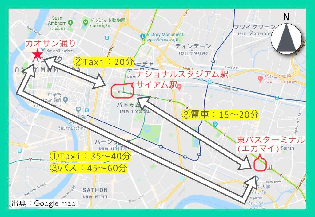 地図(カオサン通り)17