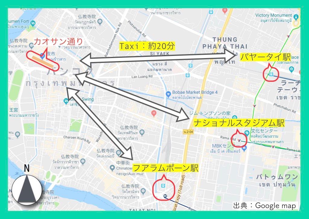 地図(カオサン通り)2