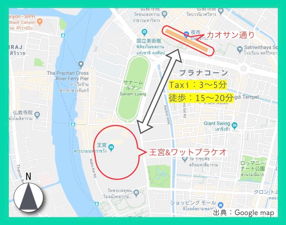 地図(カオサン通り)4
