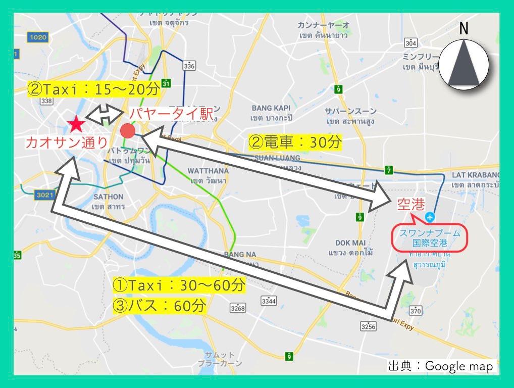 地図(カオサン通り)7