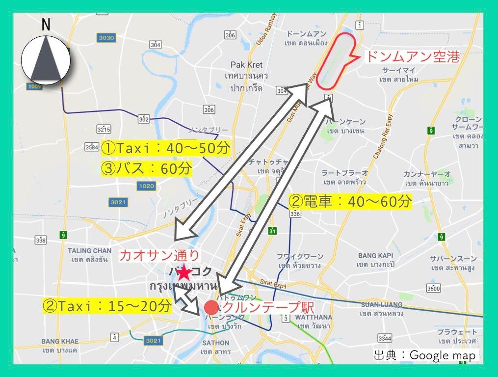 地図(カオサン通り)8