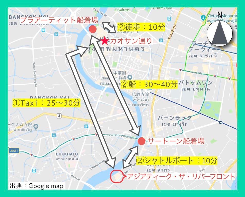 地図(カオサン通り2)