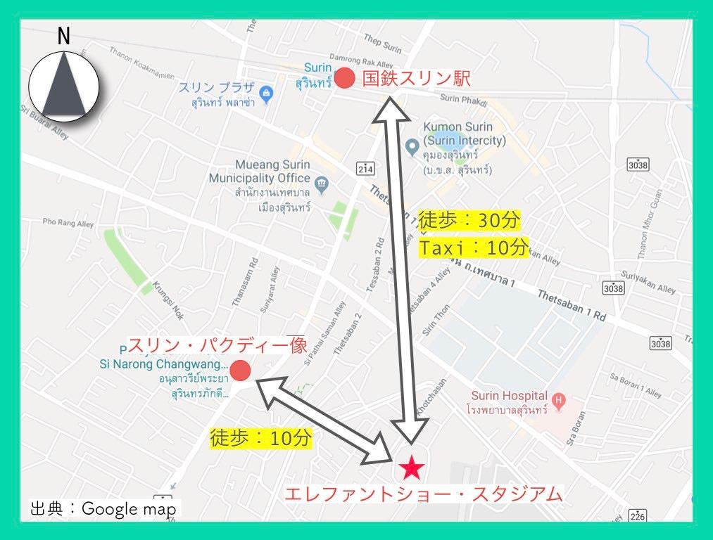 地図(スリン象祭り)3