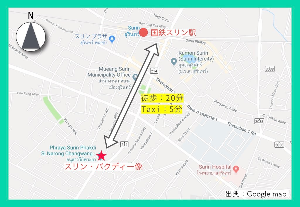 地図(スリン象祭り)4
