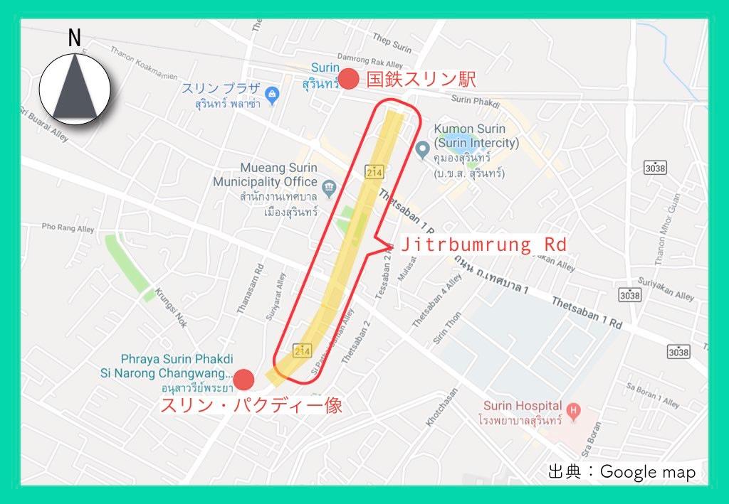 地図(スリン象祭り)5