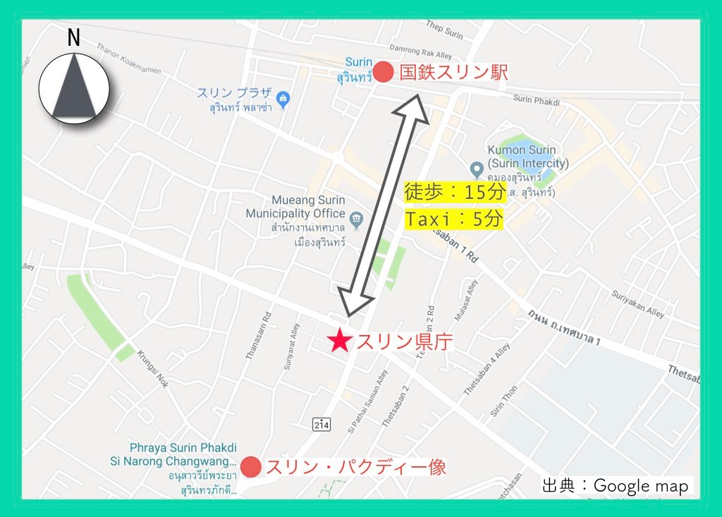 地図(スリン象祭り)6