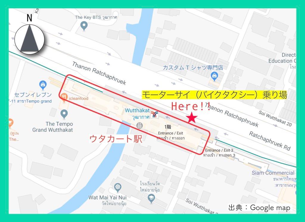 地図(ワットパクナム)行き方5
