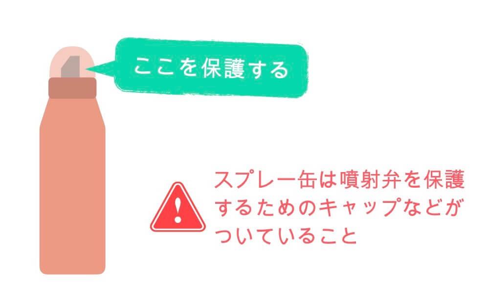 スプレー缶は噴射弁を保護する