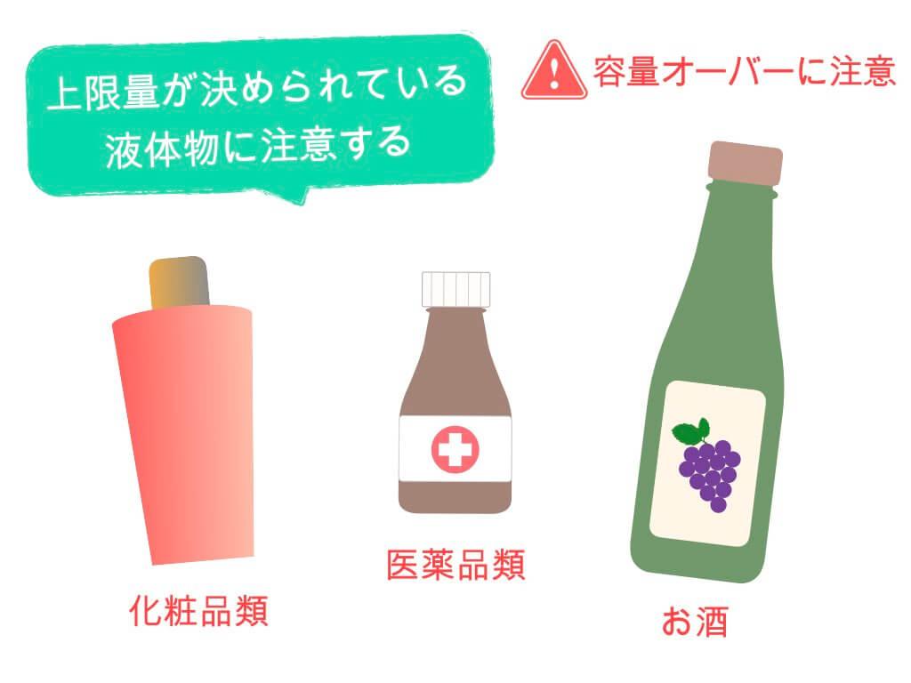 上限量が決められている液体物に注意