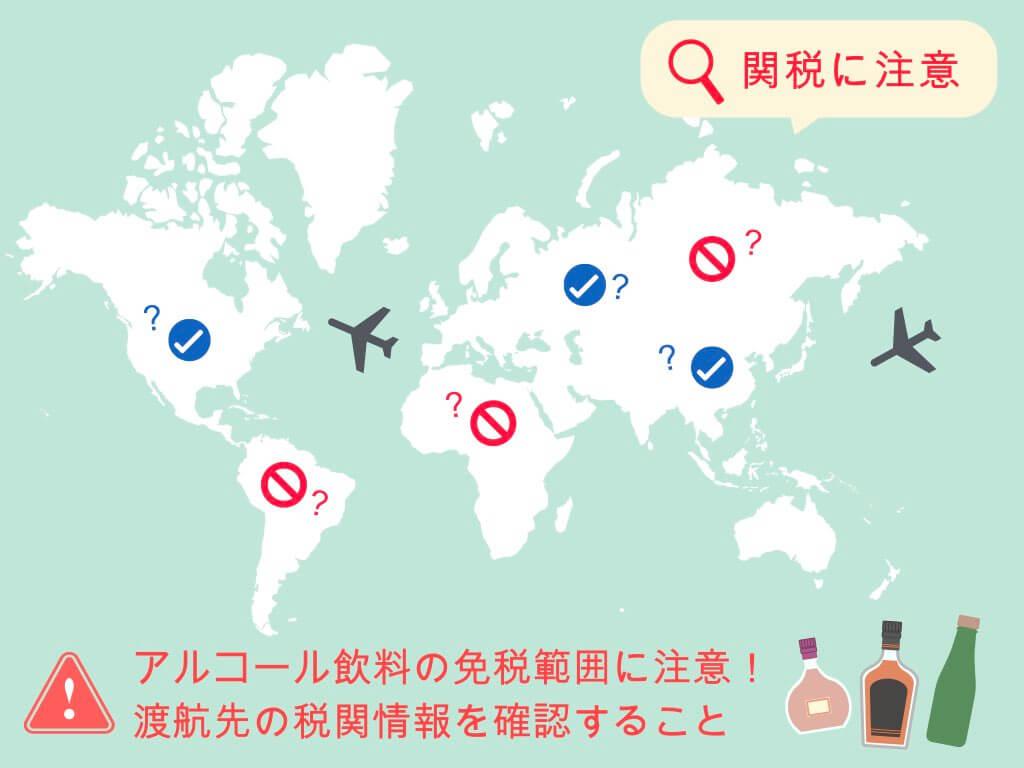 海外ではお酒の免税範囲に注意