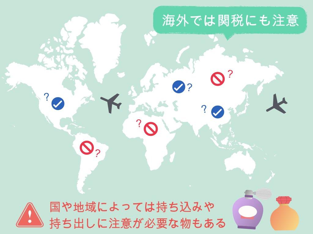 海外では関税にも注意
