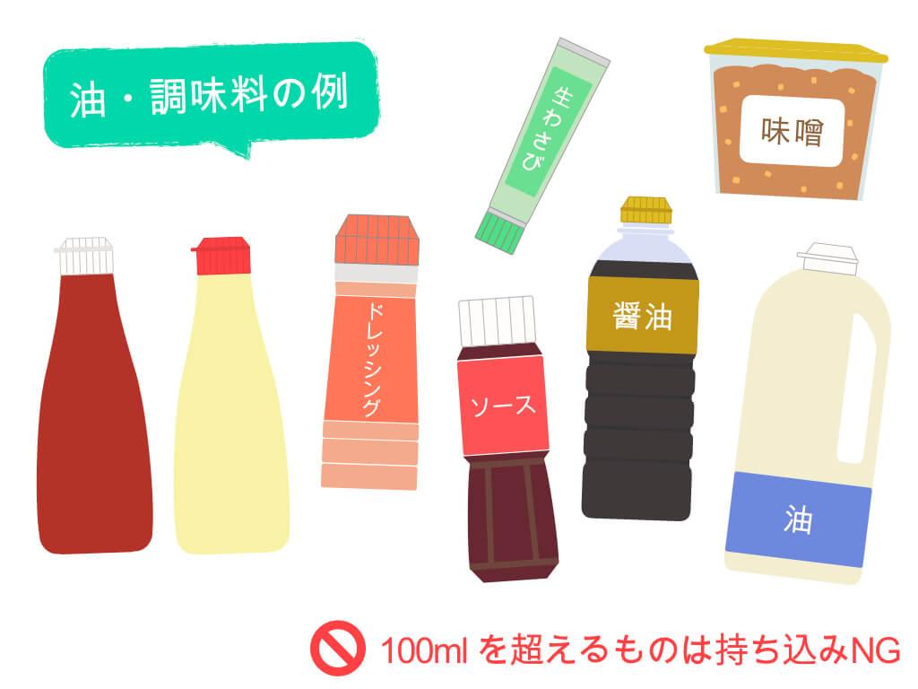油・調味料の例
