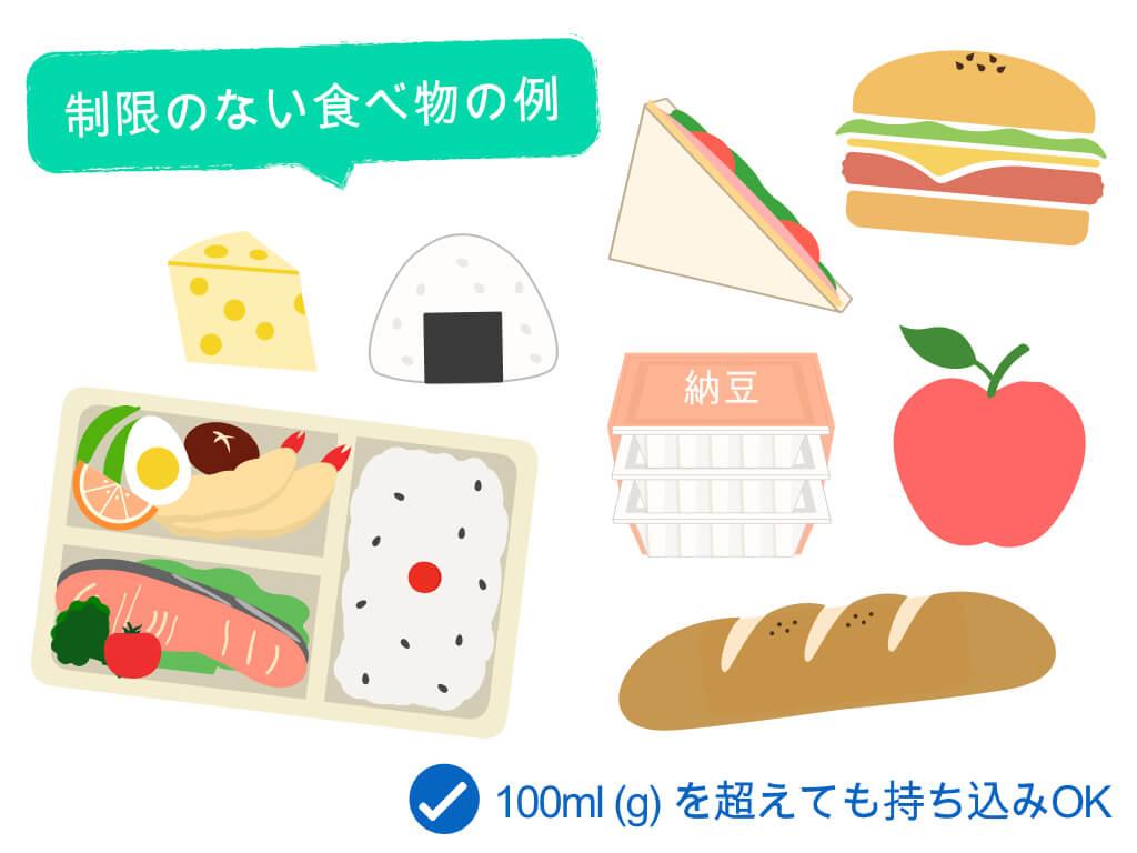 制限のない食べ物の例