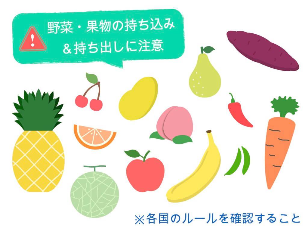 野菜・果物の持ち込み&持ち出しに注意