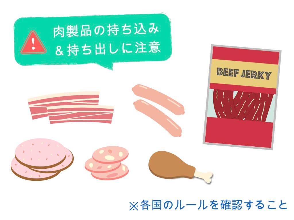 肉製品の持ち込み&持ち出しに注意