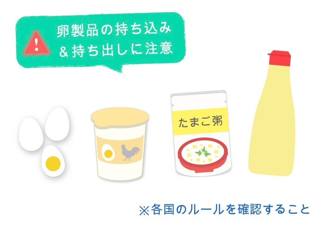 卵製品の持ち込み&持ち出しに注意