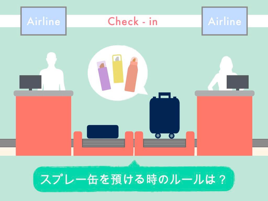 スプレー缶を飛行機に預ける時のルール
