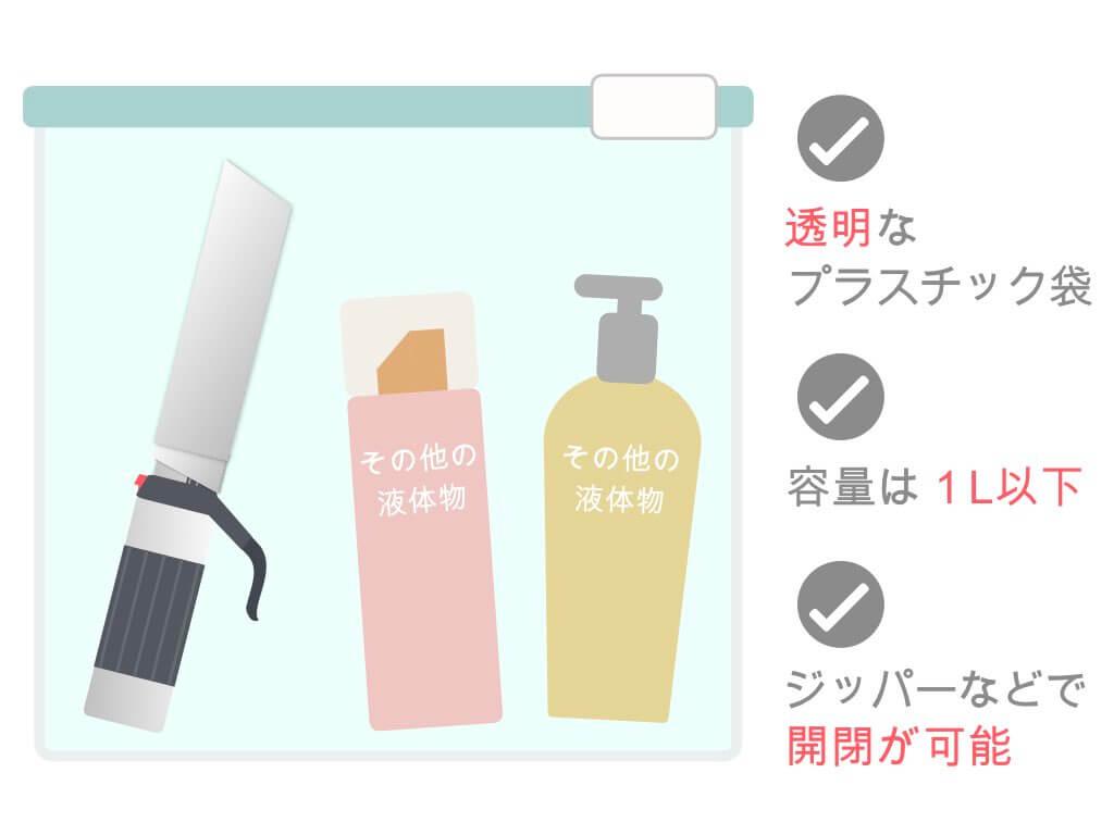 液体物を入れるプラスチック袋のルール