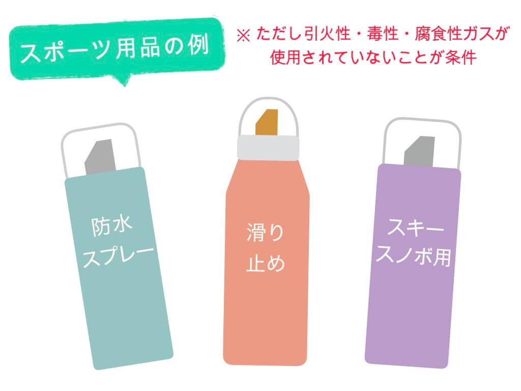 スポーツ用品のスプレー缶の例