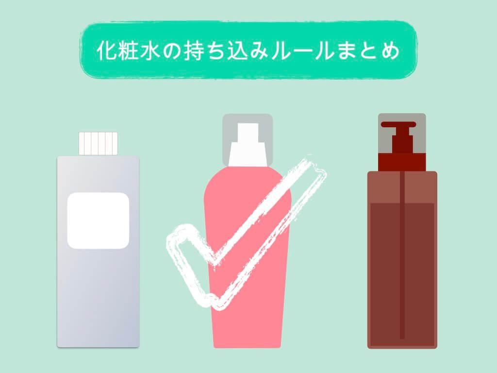 化粧水の持ち込みルールまとめ