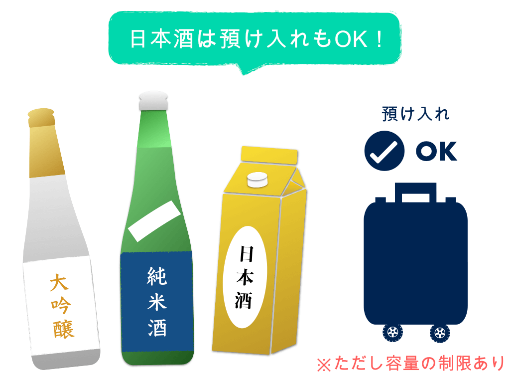 日本酒は預け入れもOK