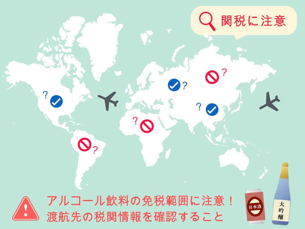 海外では日本酒の免税範囲に注意