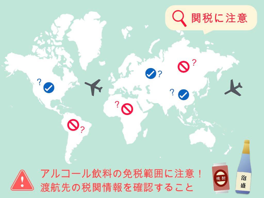海外では焼酎・泡盛の免税範囲に注意