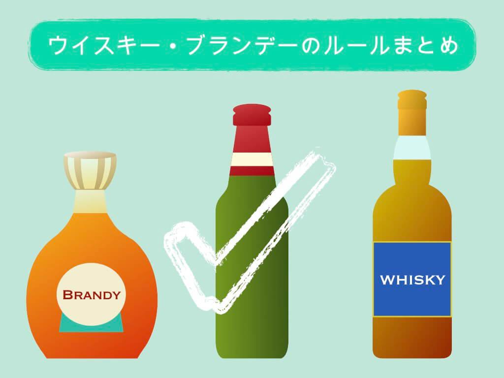 ウイスキー・ブランデーの持ち込みルールまとめ